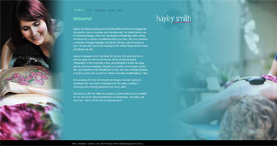 Hayley Smith Website Screenshot