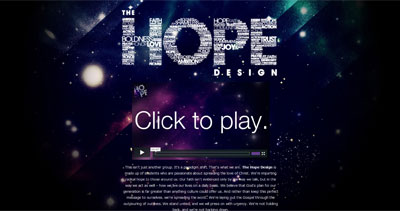 The Hope Design Website Screenshot
