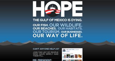 Gulf Coast Hope Website Screenshot