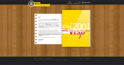 Inertia Visual Culture 2001 Website Screenshot