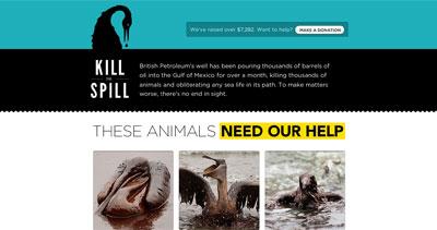 Kill The Spill Website Screenshot