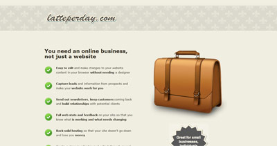 Latte Per Day Website Screenshot