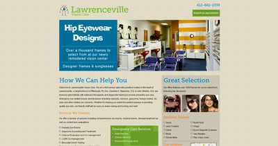 Lawrenceville Vision Care Website Screenshot