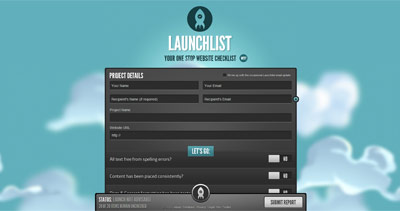 Launchlist Website Screenshot