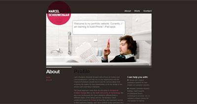 Marcel Schouwenaar Website Screenshot