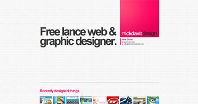 Nick Davis Website Screenshot