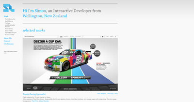 Simon Lindsay Website Screenshot