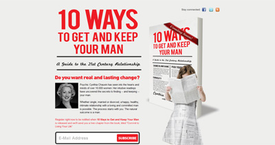 Ten Ways to Get and Keep Your Man Website Screenshot