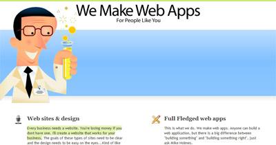 We Make Web Apps Website Screenshot