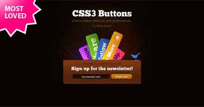 Css3 Buttons Website Screenshot