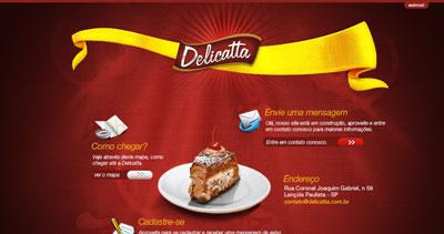 Delicatta Website Screenshot