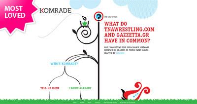 Komrade Website Screenshot