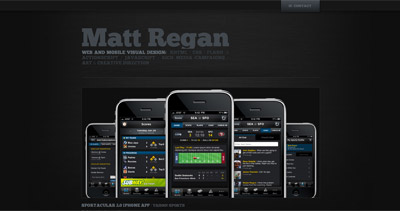 Matt Regan Website Screenshot