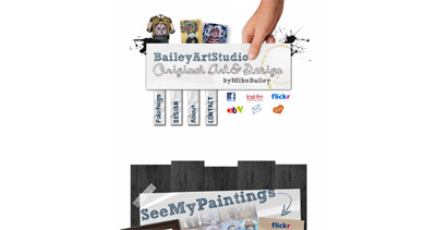 BaileyArtStudio Website Screenshot