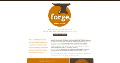 Forge Website Screenshot