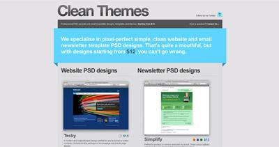Clean Themes Website Screenshot