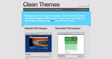 Clean Themes Thumbnail Preview