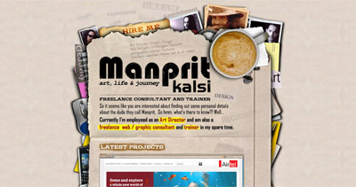 Manprit Kalsi Website Screenshot