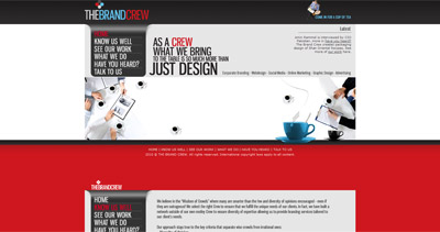 The Brand Crew Website Screenshot