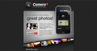 Camera+ Website Screenshot