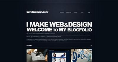 David Salvatori Website Screenshot