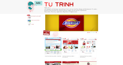 Tu Trinh Website Screenshot