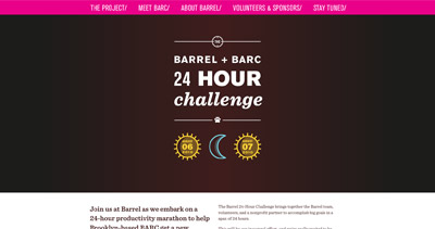 Barrel + BARC Website Screenshot