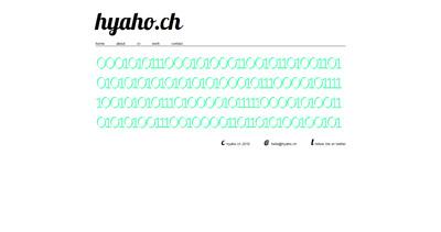 hyaho Website Screenshot