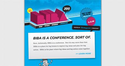 BIBA 2010 Website Screenshot