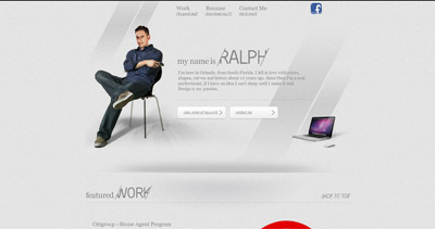 Ralph Millard Website Screenshot