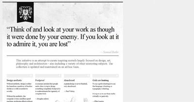 Inspire Website Screenshot