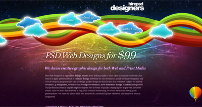 Hire PSD Designers Website Screenshot