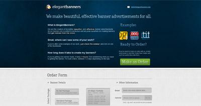 Elegant Banners Website Screenshot