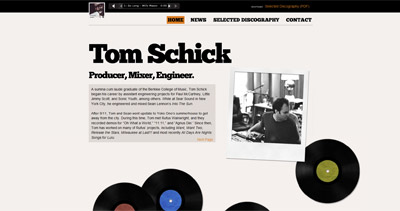 Tom Schick Website Screenshot