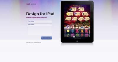 iPad Atelier Website Screenshot