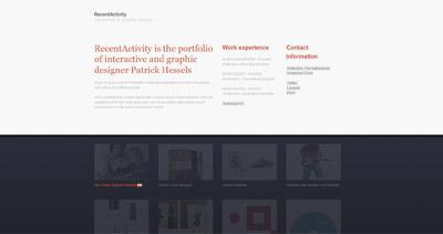 RecentActivity Website Screenshot