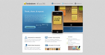 iBrainstorm Website Screenshot