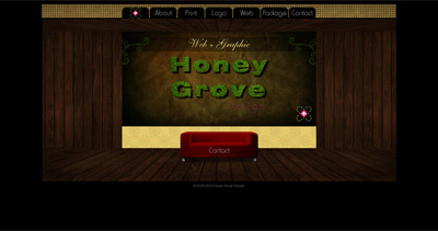 Honey Grove Design Website Screenshot
