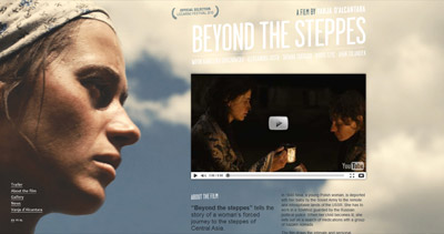 Beyond the steppes Website Screenshot