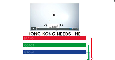 Hong Kong Needs Me Website Screenshot