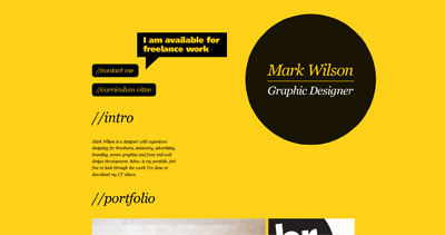 Mark Wilson Website Screenshot