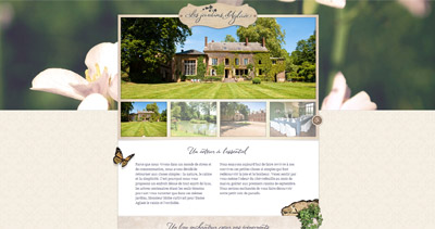 Les jardins d'Aglaée Website Screenshot