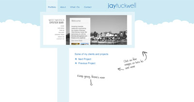Jay Tuckwell Website Screenshot
