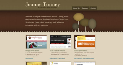 Joanne Tunney Website Screenshot