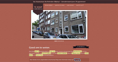 Te Koop Website Screenshot