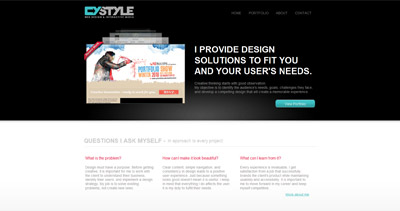 CyStyle Website Screenshot