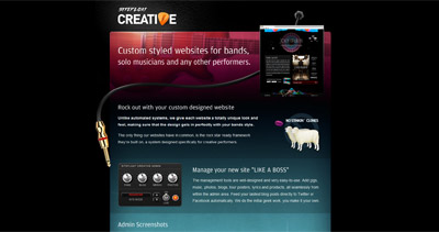 SiteFloat Creative Website Screenshot