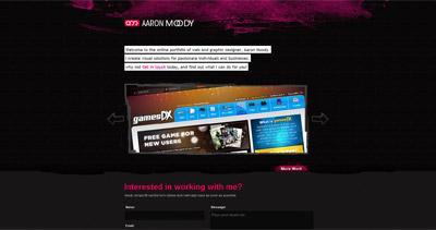 Aaron Moody Website Screenshot