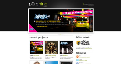 PureNine Studios Inc Website Screenshot