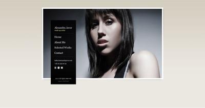 Alexandra Javor Website Screenshot
